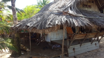 View approaching cabana beach verandah on left, front verandah right